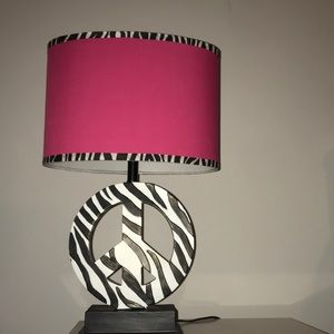 Peace sign lamp